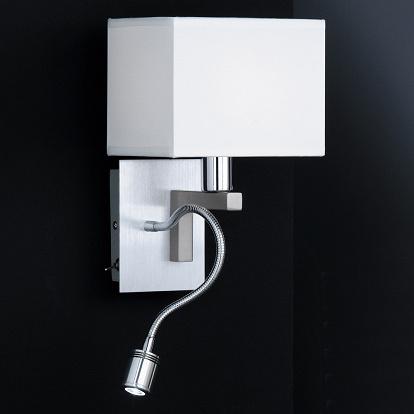 sch ne wandlampe mit separatem led leselicht. Black Bedroom Furniture Sets. Home Design Ideas