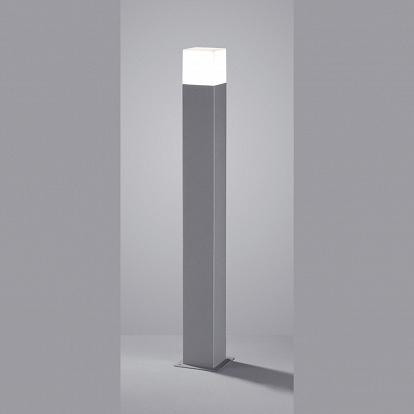 hohe led stehlampe titanfarben f r draussen quadratisch