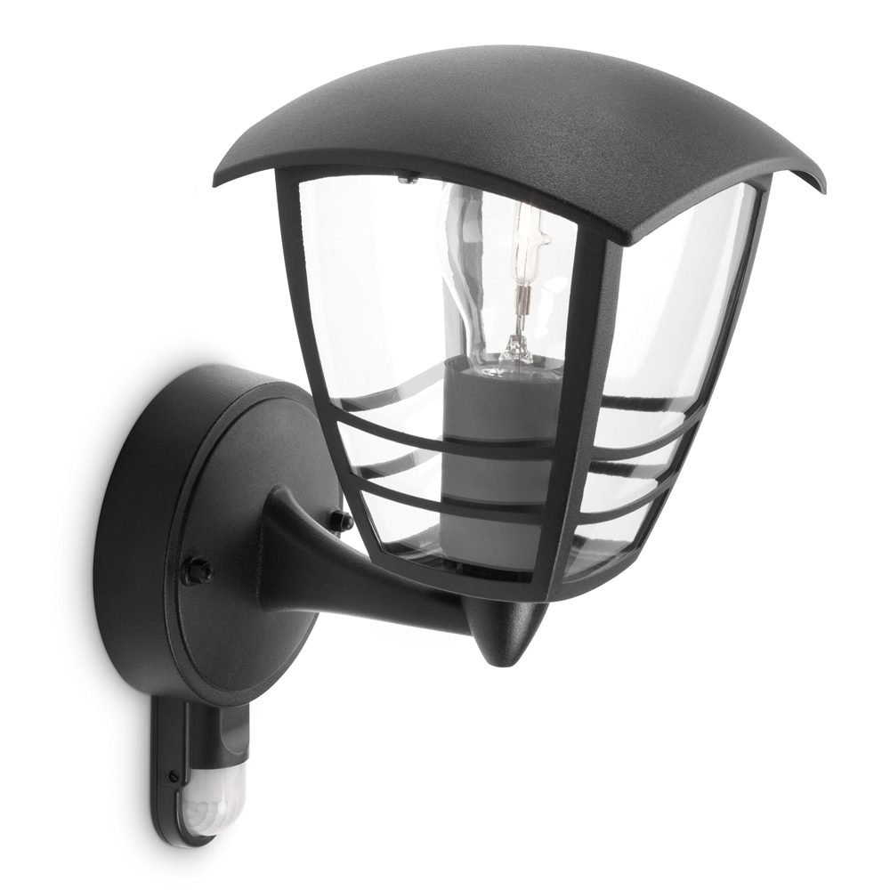 Aussen-Wandlampe mit Bewegungsmelder schwarz