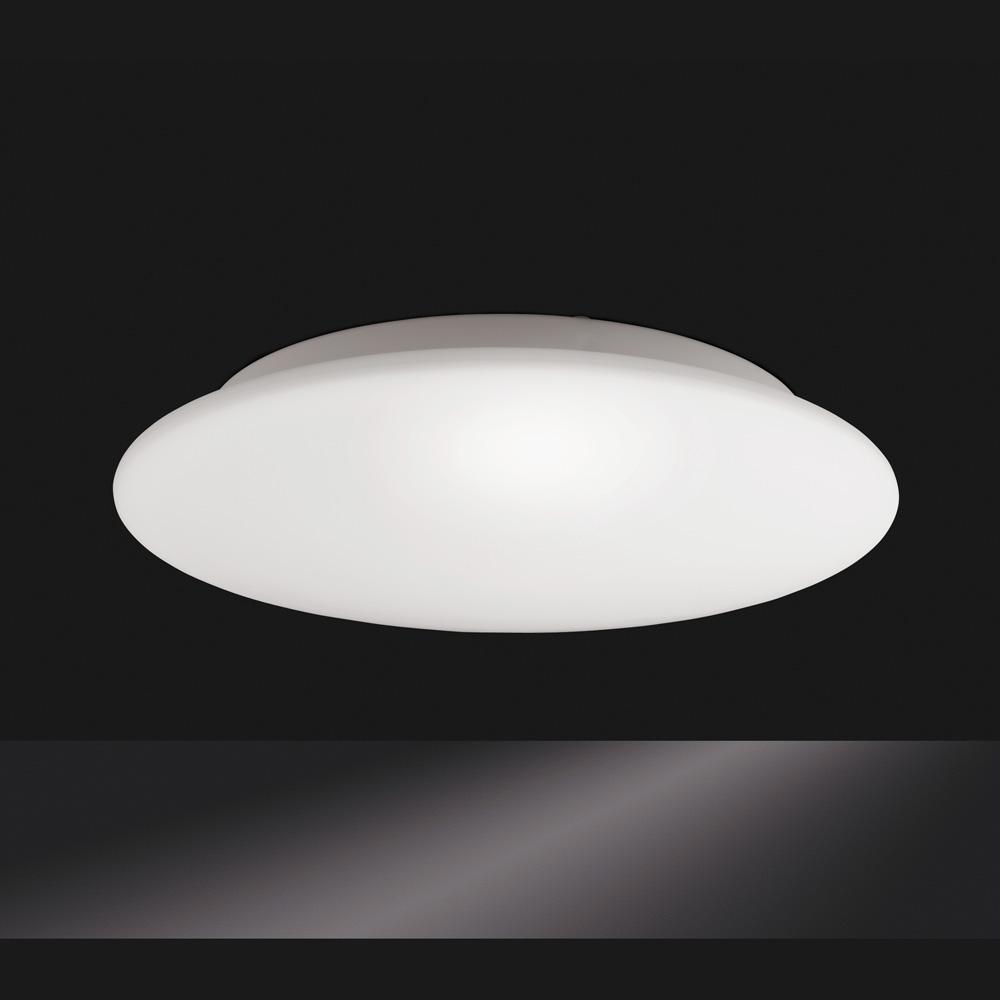 Flach gew lbte deckenlampe opalglas size 2 for Deckenlampe flach