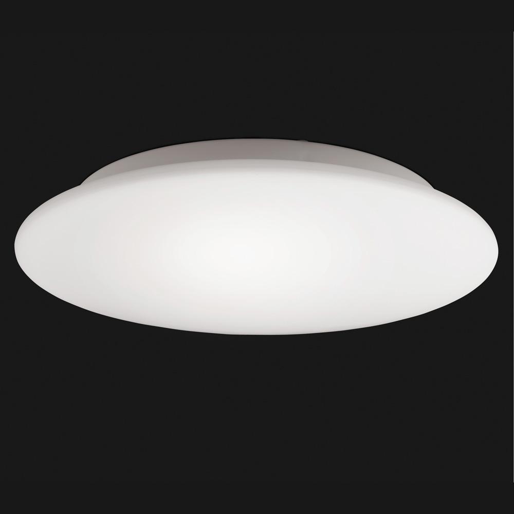 Flach gew lbte deckenlampe opalglas size 3 for Deckenlampe flach