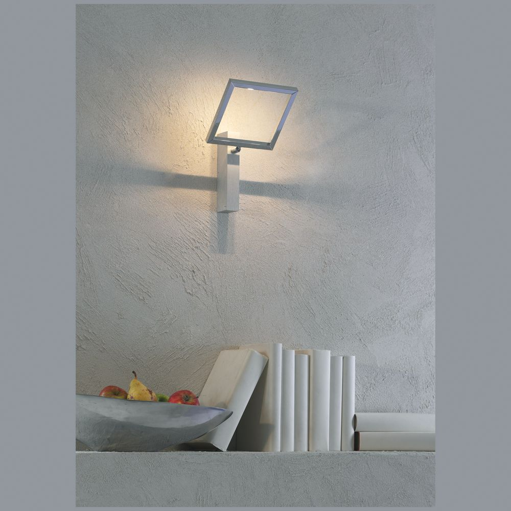 luftige 2 flammige led decken oder wandlampe verchromt. Black Bedroom Furniture Sets. Home Design Ideas