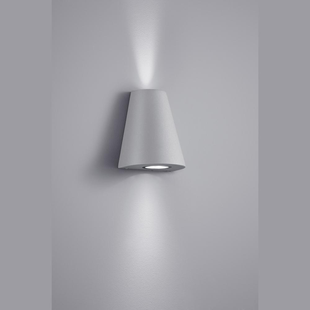 schmucke led lampe f r die aussenwand titangrau. Black Bedroom Furniture Sets. Home Design Ideas