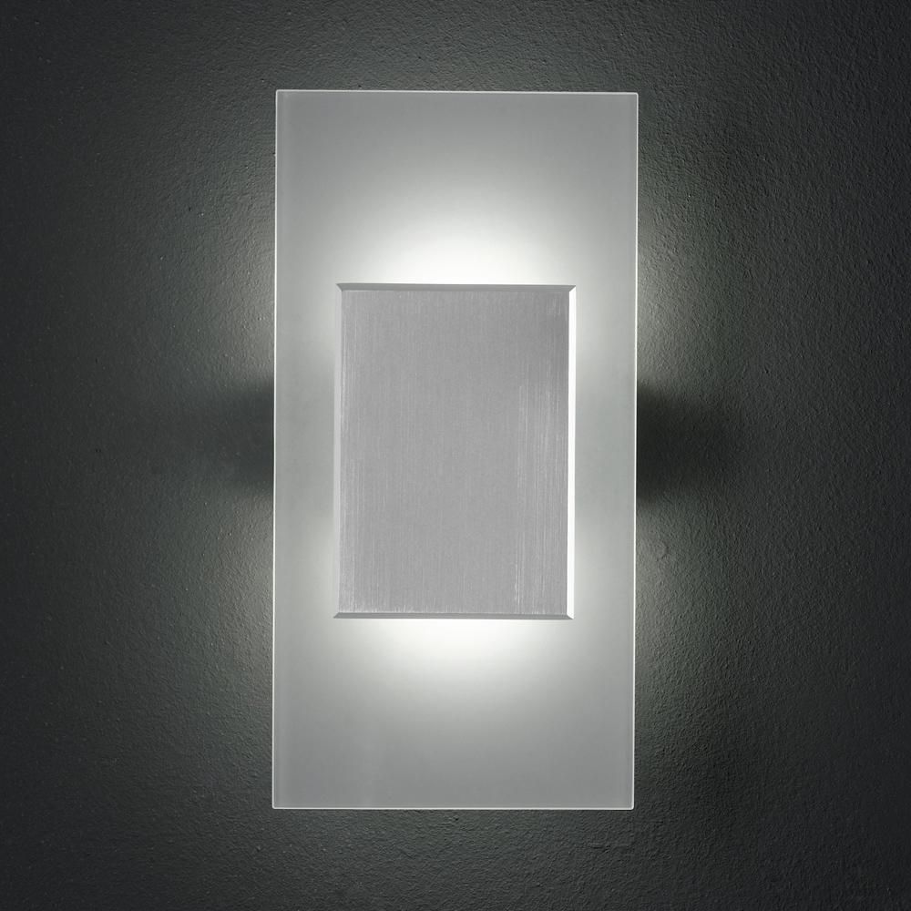 LED Wandlampe für diffuses Ambientelicht rechteckig 2 LED -> Led Lampe Quadratisch