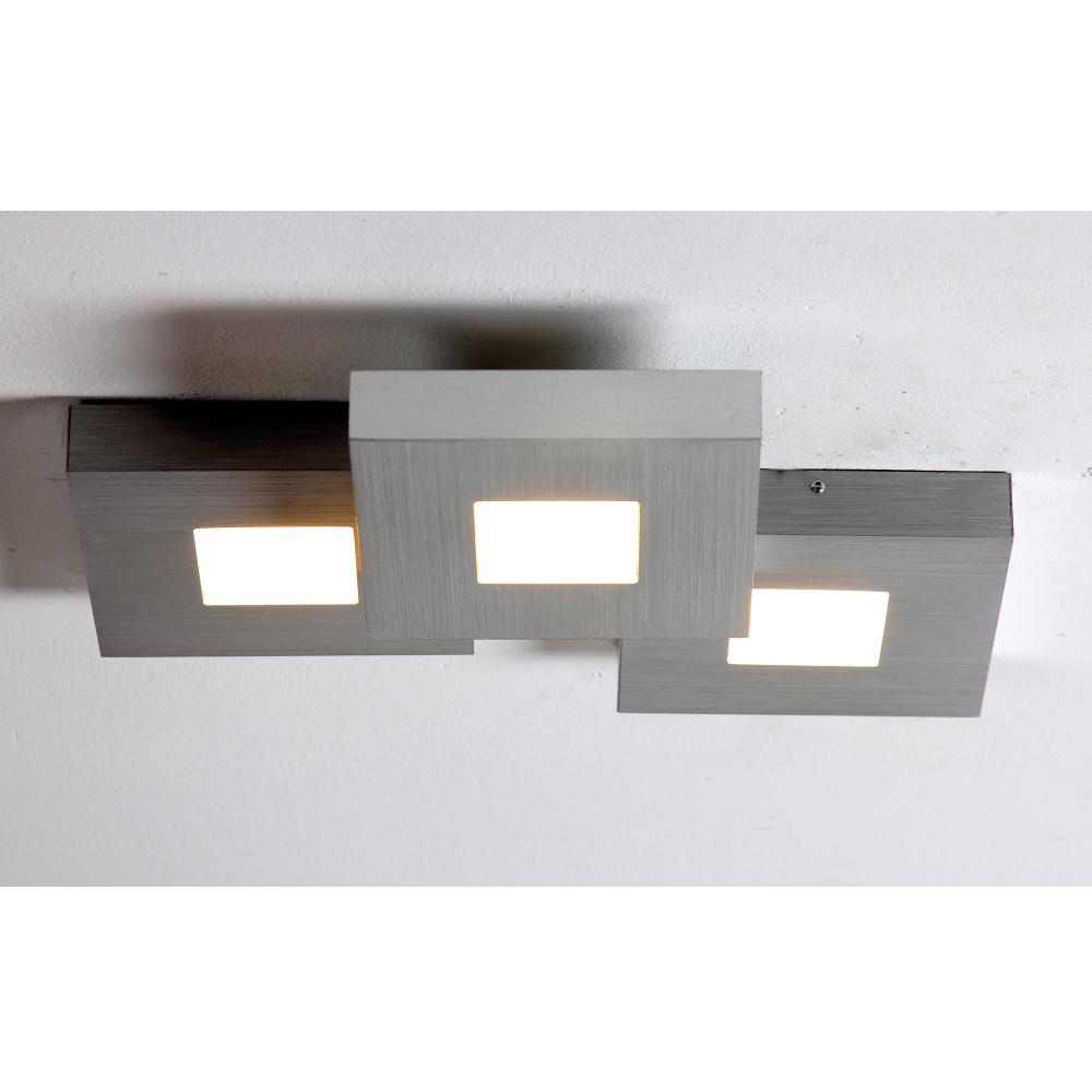 bopp cubus led deckenlampe in alu geschliffen 3 flammig. Black Bedroom Furniture Sets. Home Design Ideas