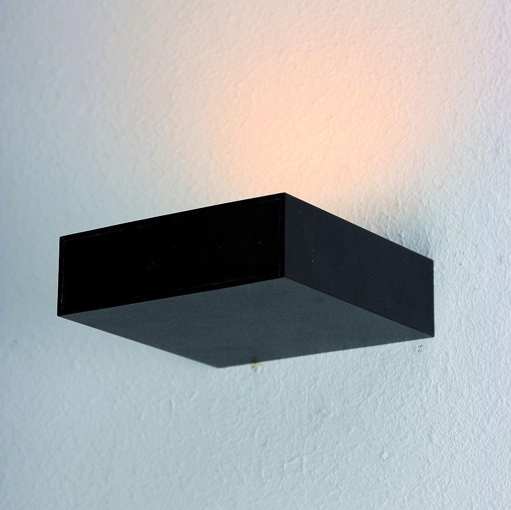 bopp cubus led wandlampe dimmbar in schwarz. Black Bedroom Furniture Sets. Home Design Ideas