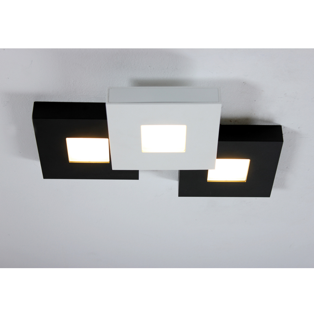 bopp cubus led deckenlampe schwarz weiss in 3 gr ssen. Black Bedroom Furniture Sets. Home Design Ideas