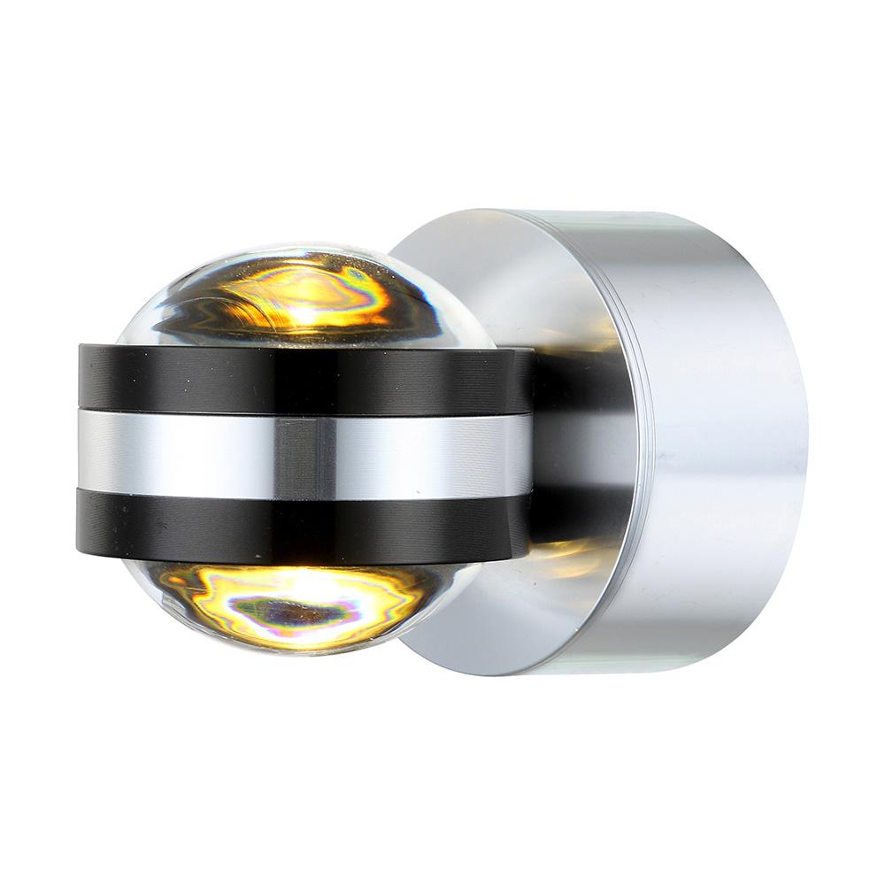 Led wandlampe in aluminium und acryl for Led wandlampe