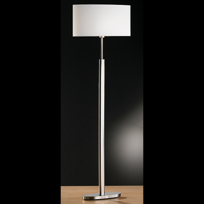 stehlampe in mattnickel fuss oval schirm weiss. Black Bedroom Furniture Sets. Home Design Ideas
