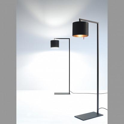 stehlampe anta afra schwarzer schirm innen silbern. Black Bedroom Furniture Sets. Home Design Ideas