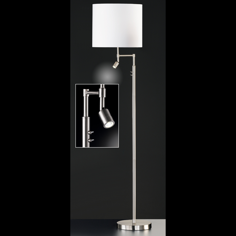 stehlampe mit e27 fassung plus led spot. Black Bedroom Furniture Sets. Home Design Ideas
