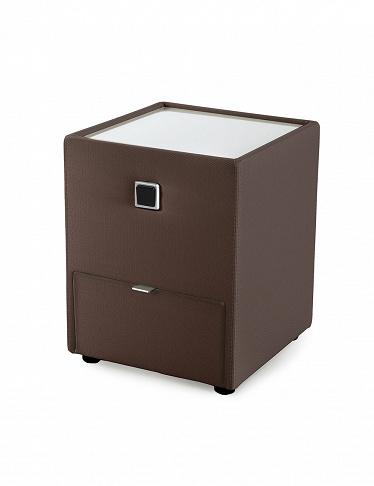 Table de chevet lenny brun for Table de chevet brun noir