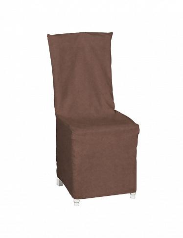 Housse de chaise avec noeud d co marron glac - Housse chaise habitat ...
