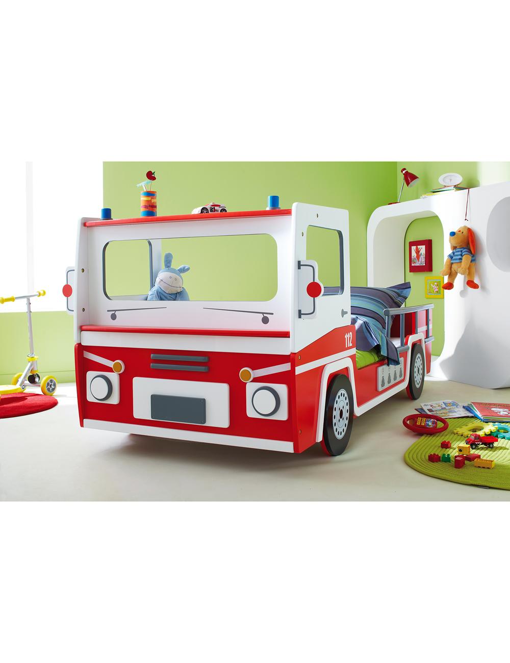 Feuerwehrauto-Bett aus kratzfester MDF