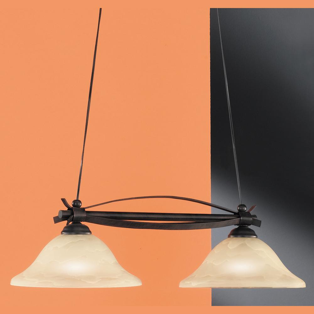 attraktive h ngelampe 2 leuchten. Black Bedroom Furniture Sets. Home Design Ideas
