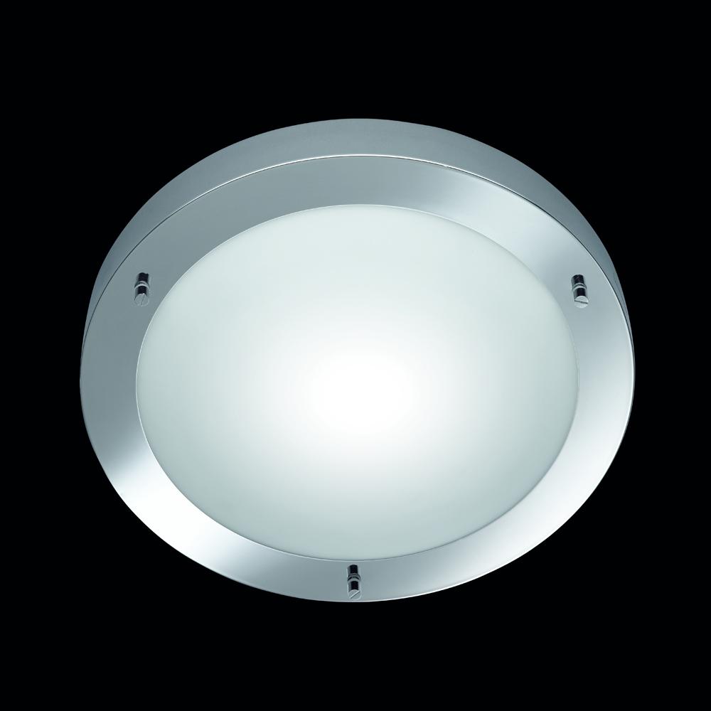 badezimmer leuchte in chrom mit glas von trio. Black Bedroom Furniture Sets. Home Design Ideas
