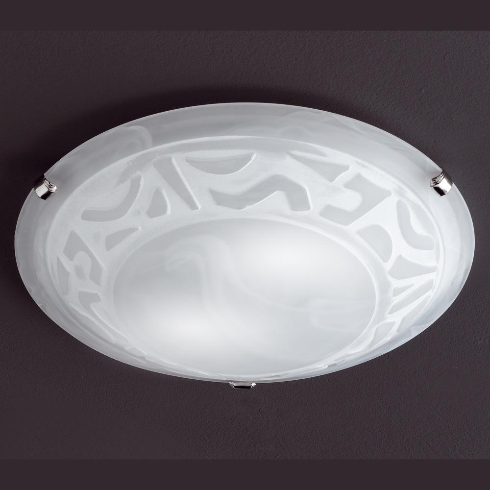 Grosse runde deckenlampe alabasterfarbig mit dekor for Runde deckenlampe