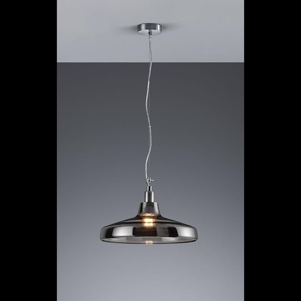 h ngelampe mit rauchglas schirm tolles licht. Black Bedroom Furniture Sets. Home Design Ideas