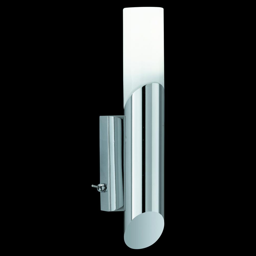 sch ne wandlampe f rs badezimmer mit glasschirmen und licht nach oben und unten. Black Bedroom Furniture Sets. Home Design Ideas