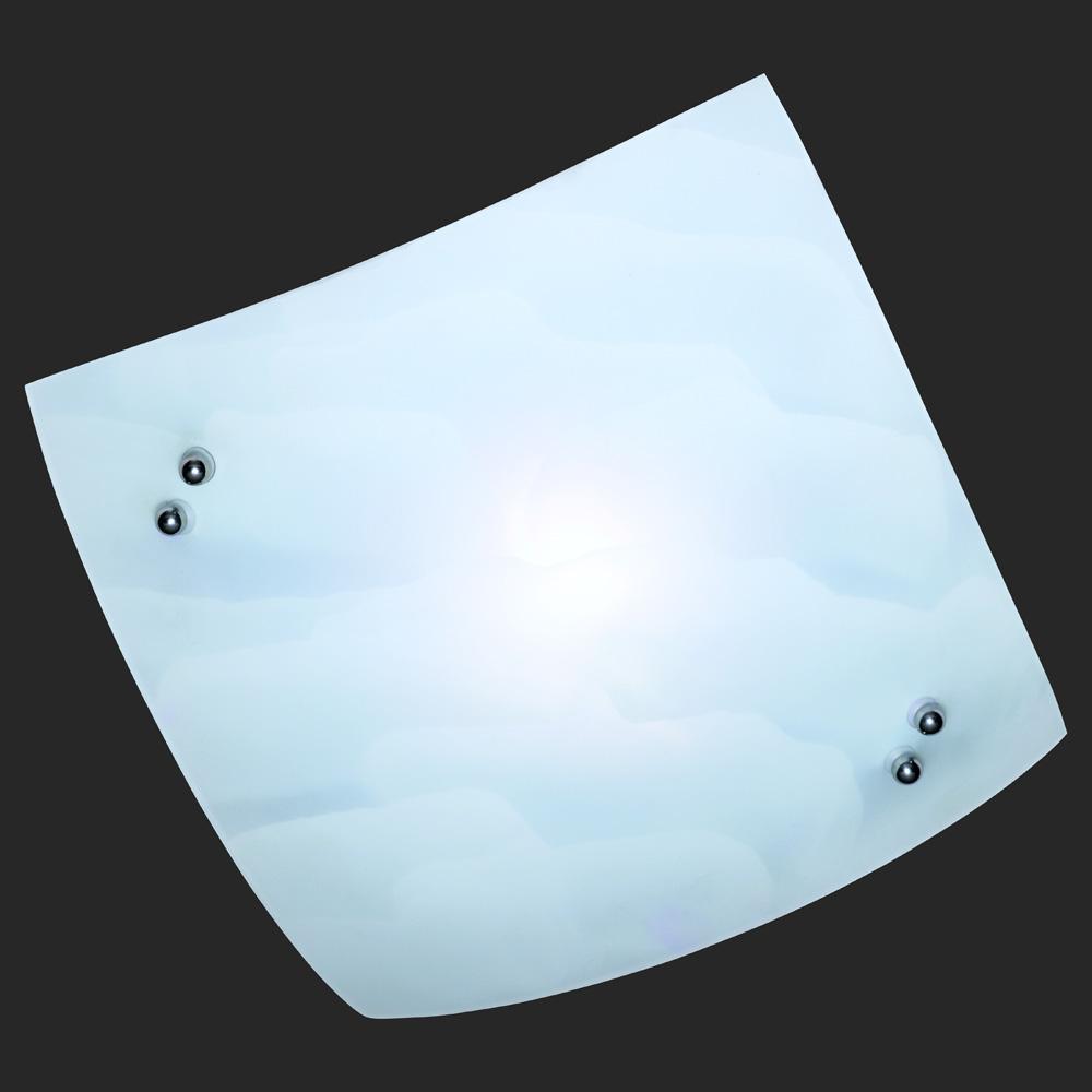 Wolkig weisse deckenleuchte viereckig for Deckenlampe viereckig