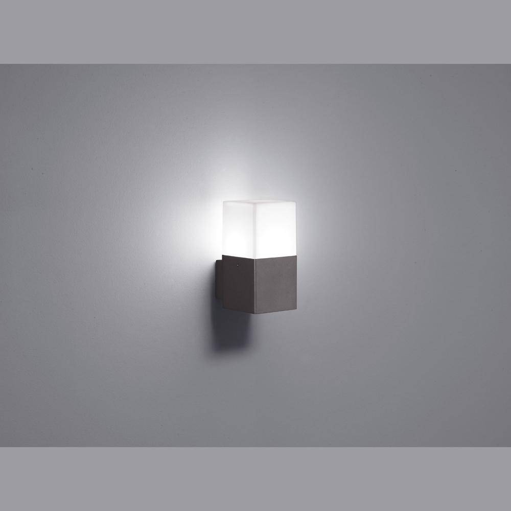 Quadratische led wand aussenlampe - Aussen wandlampe ...