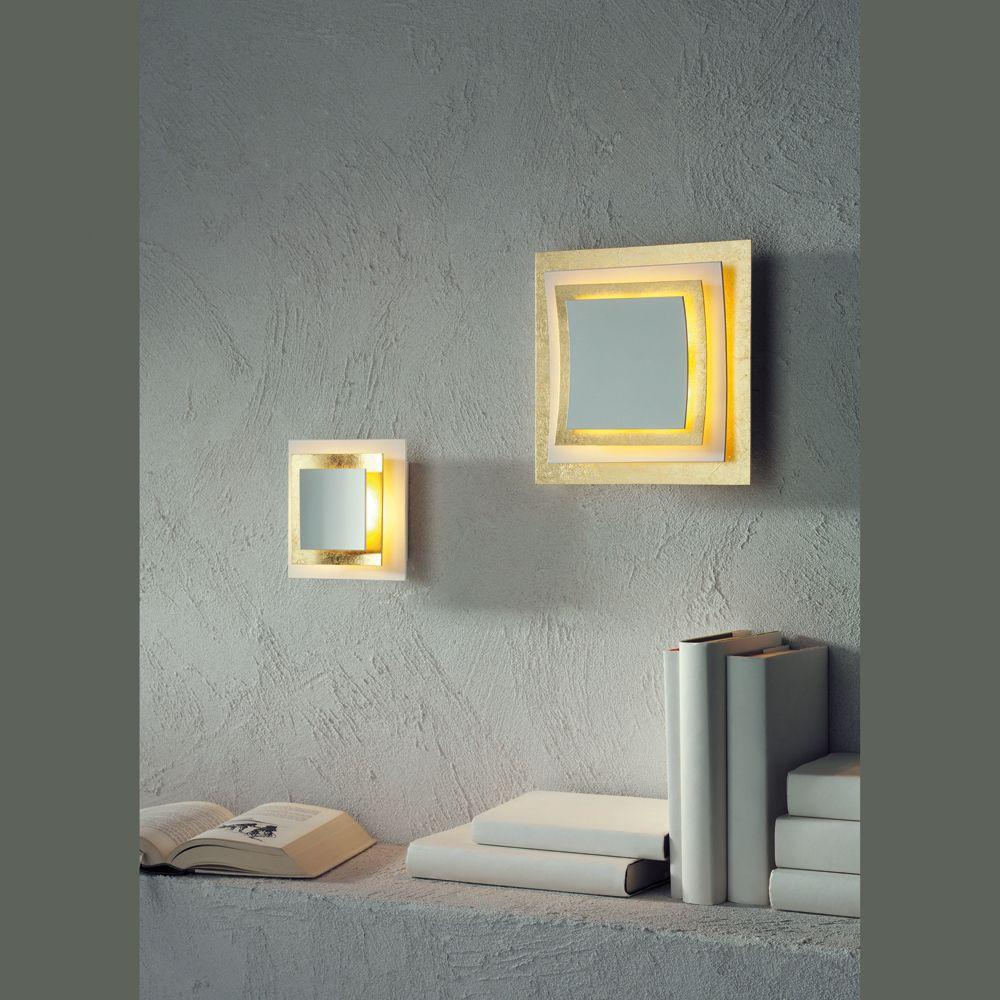 konkav gew lbte decken oder wandlampe mit blattgold. Black Bedroom Furniture Sets. Home Design Ideas