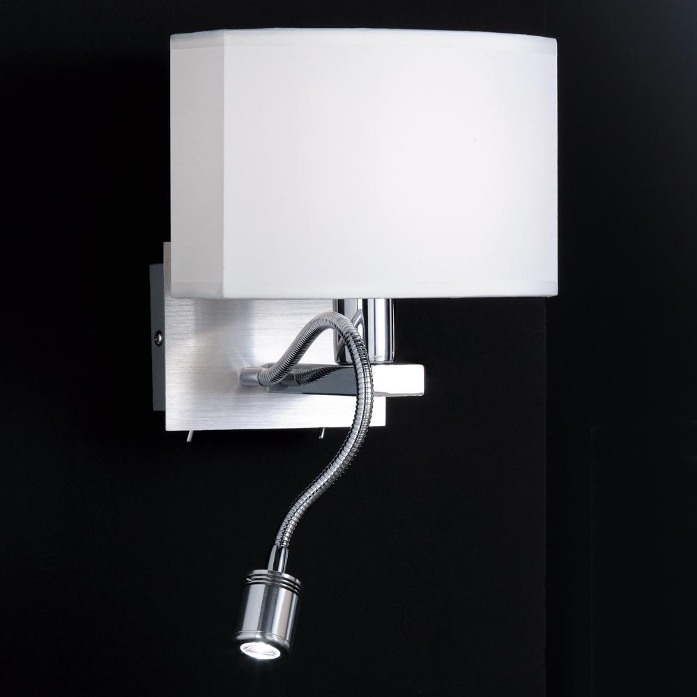 Schmucke wandlampe mit separatem led leselicht for Led wandlampe