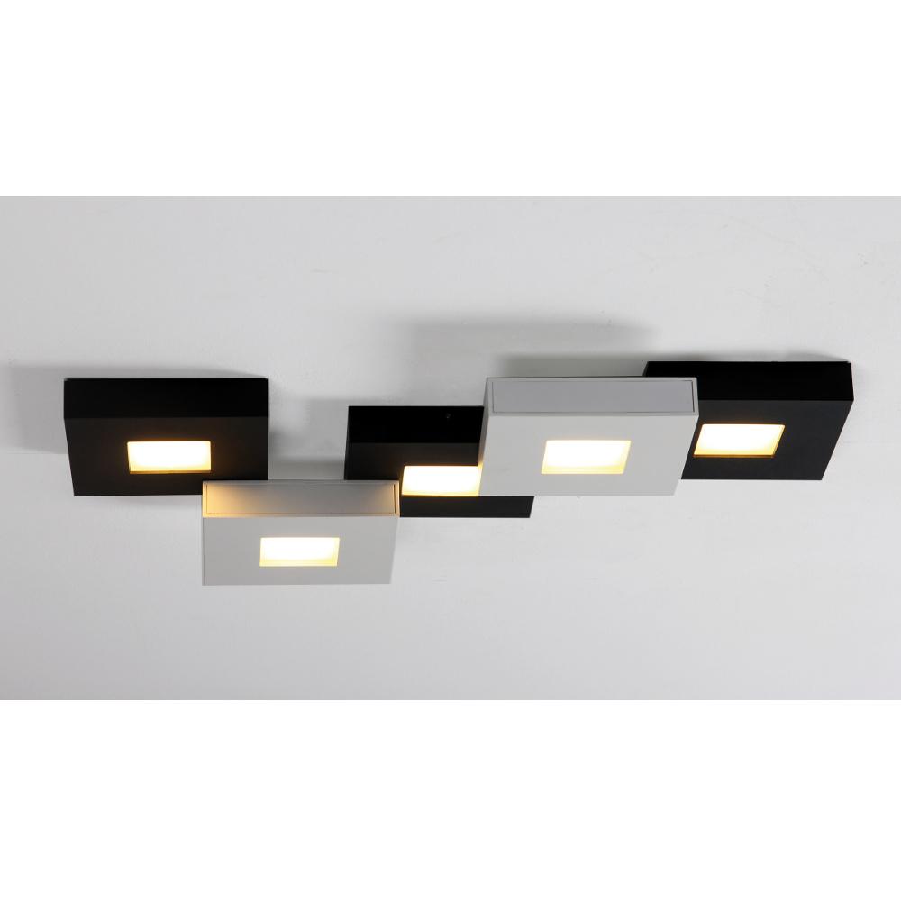 Bopp cubus led deckenlampe schwarz weiss 5 flammig for Led deckenleuchte deckenlampe