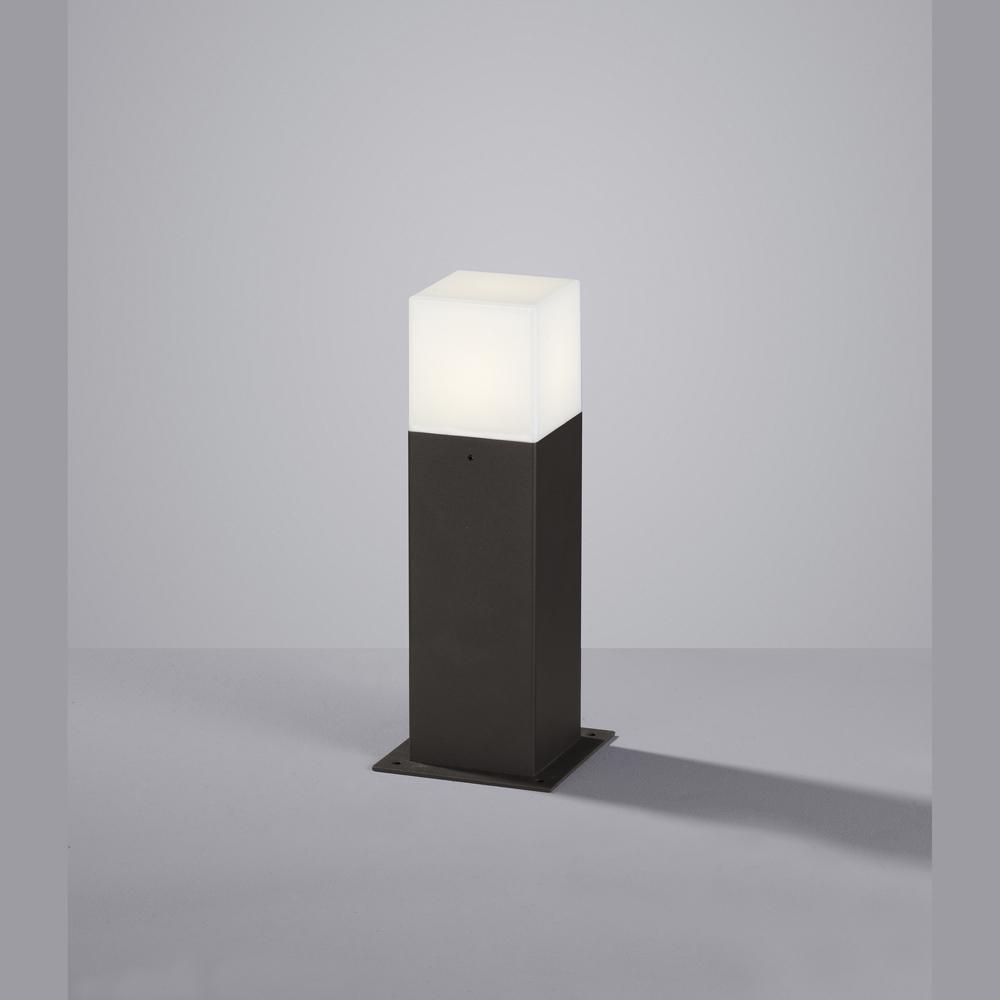 led stehlampe anthrazit f r draussen quadratisch. Black Bedroom Furniture Sets. Home Design Ideas