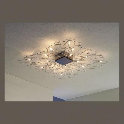 Lampen an der decke glas pendelleuchte modern for Deckenleuchten in der decke