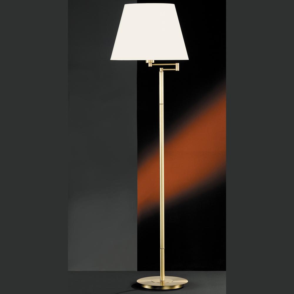 stehlampe mit schwenkbarem schirm weiss oder beige. Black Bedroom Furniture Sets. Home Design Ideas