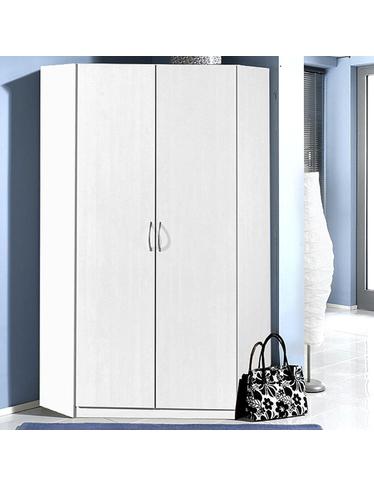 Armoire d angle sprint 2 portes blanc int rieur d cor lin for Interieur lin