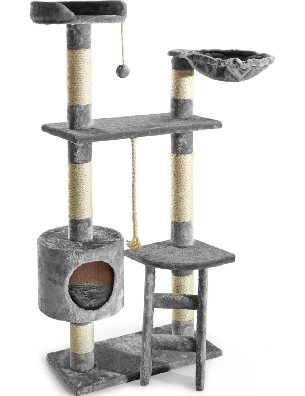 katzenbaum ritchie mit leiter grau. Black Bedroom Furniture Sets. Home Design Ideas