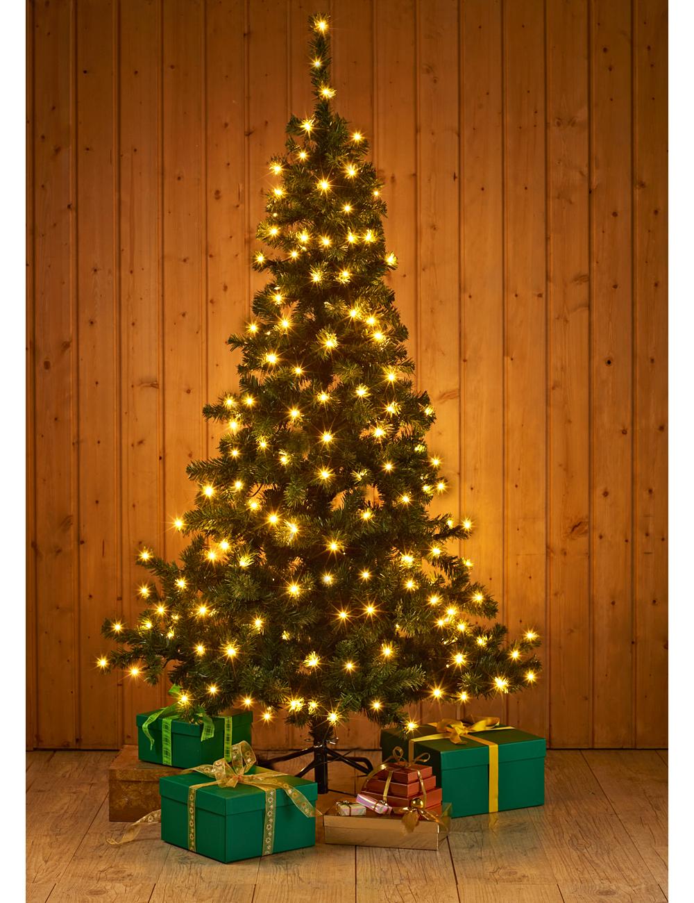 Weihnachtsbaum mit 180 leds - Tannenbaum dekoration ...