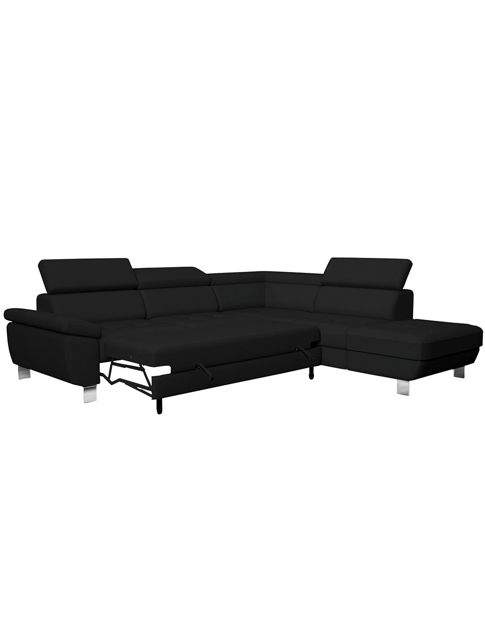 schlaf ecksofa kate schwarz. Black Bedroom Furniture Sets. Home Design Ideas