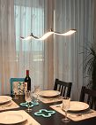 Lampe suspension «Vague» avec LED