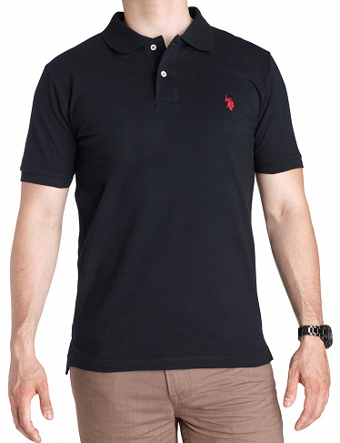 Polo-Shirt, US POLO ASSN., schwarz