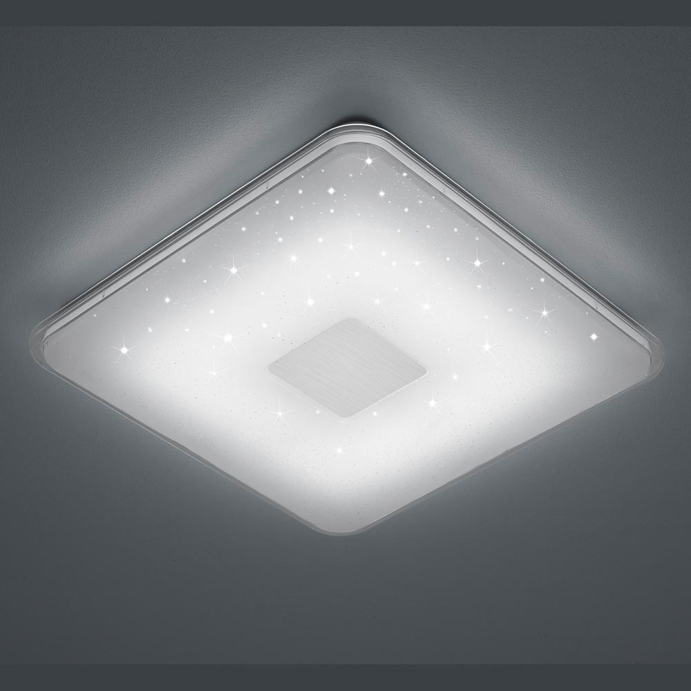 und elegant  die quadratische LED Deckenleuchte mit Sternenhimmel