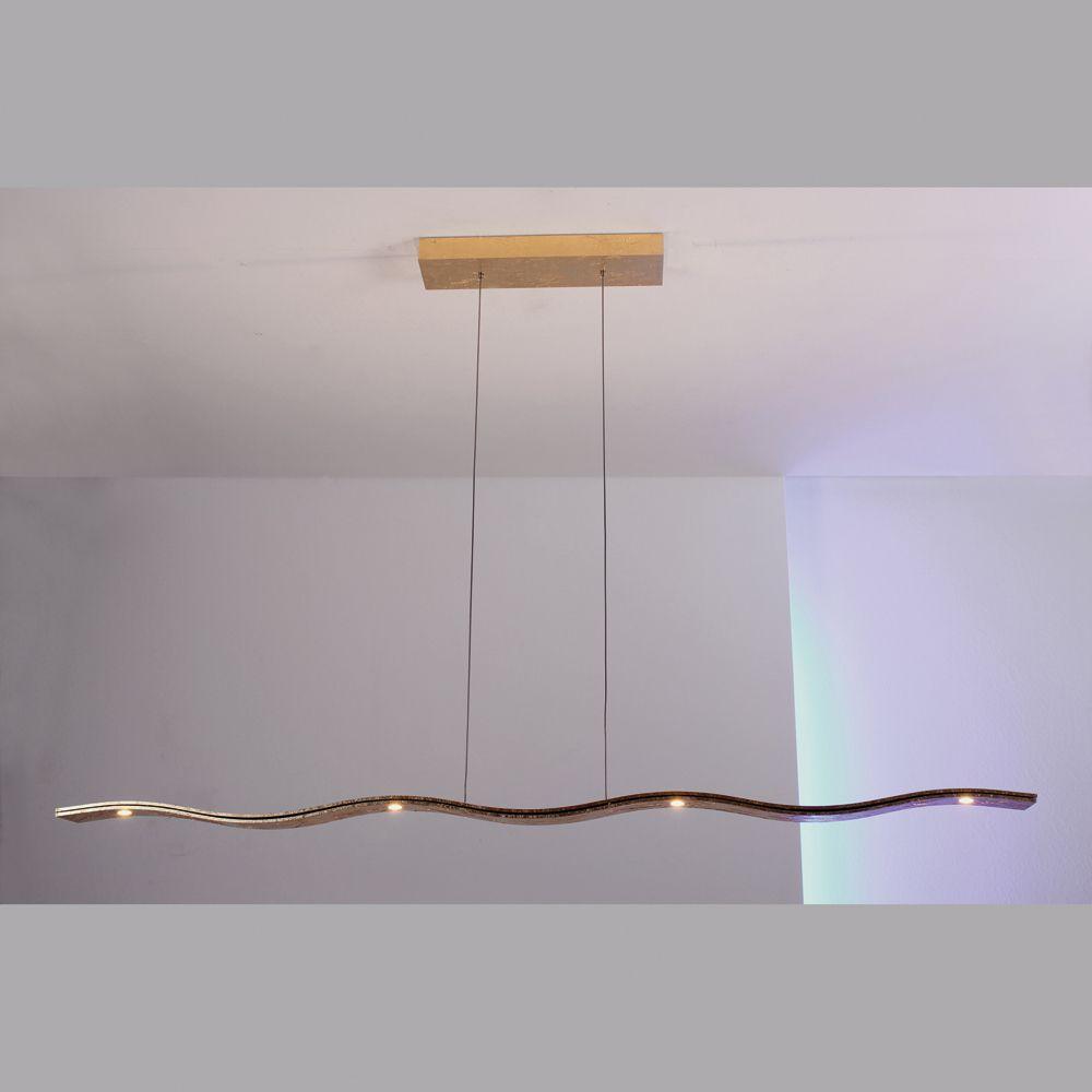 escale fluid h ngelampe dimmbar 7 led echtgold. Black Bedroom Furniture Sets. Home Design Ideas