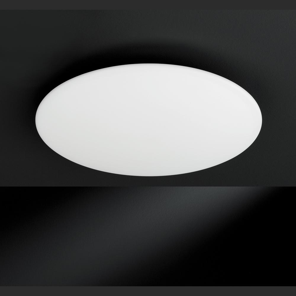 Flache lampen glas pendelleuchte modern for Led deckenleuchte rund flach