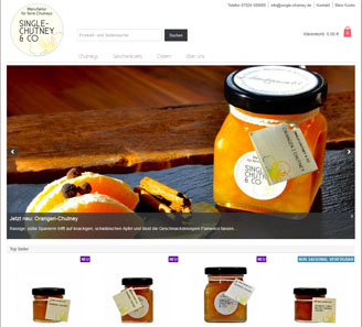 www.single-chutney.de - Online-Shop powered by orbiz.
