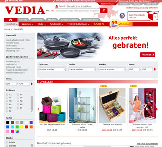 www.vedia.ch - Online-Shop powered by orbiz.
