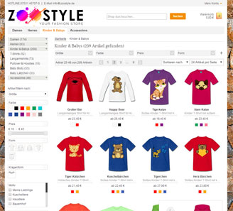 www.zoostyle.de - Online-Shop powered by orbiz.